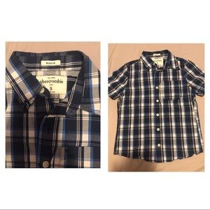 Other - 2 short sleeve button down shirts for boys size S